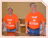 TAM employees volunteer at the Houston Food Bank